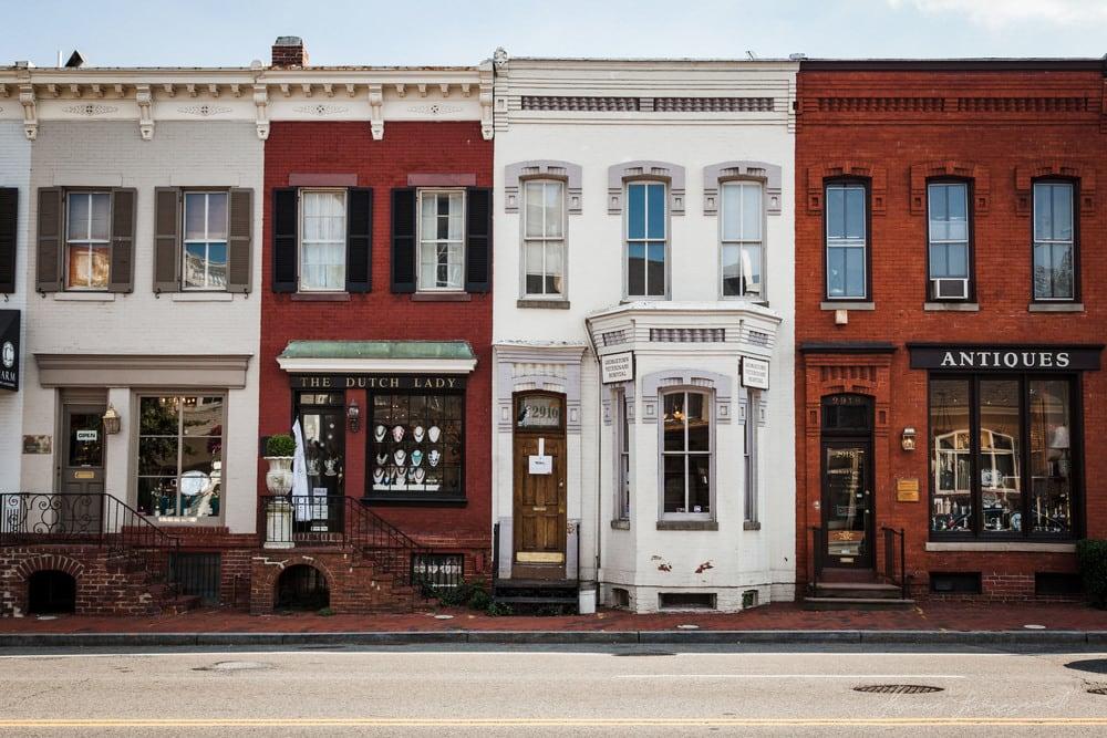 Ficar no bairro de Georgetown em Washington